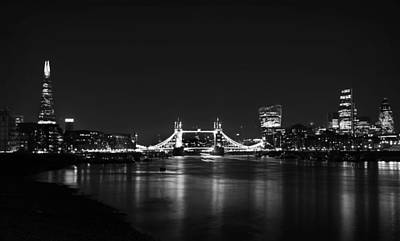 London Skyline Photograph - London Night View by Mark Rogan
