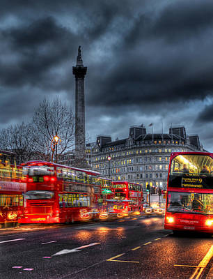 London Red Buses Print by Jasna Buncic