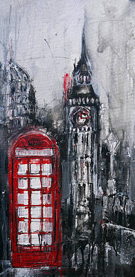 London Red Telephone Box Original by Irina Rumyantseva