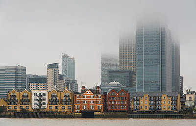 London Skyline Canary Wharf Business District Original by Michalakis Ppalis
