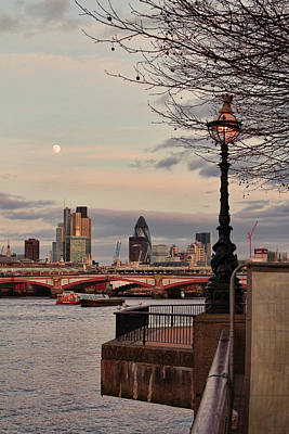 London Skyline From The South Bank Print by Jasna Buncic