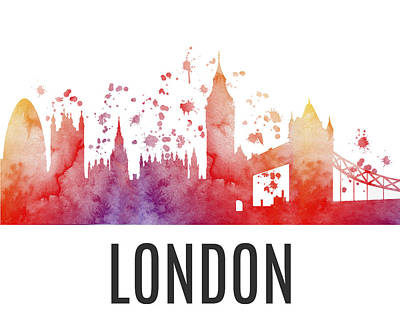 London Skyline I Original by Kate Shephard