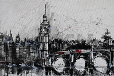 London Skyline Original by Irina Rumyantseva