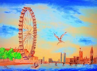 London Skyline Painting - London Skyline by Irving Starr