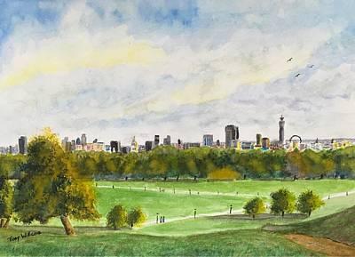 London Skyline Painting - London Skyline by Tony Williams