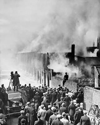 Slums Photograph - London Slum Clearance by Underwood Archives