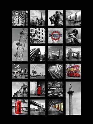 Gherkin Photograph - London Squares by Mark Rogan