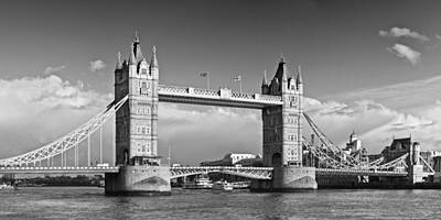 London Tower Bridge Monochrome Print by Melanie Viola