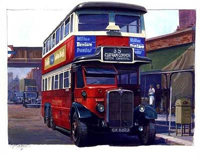 Vintage Painter Painting - London Transport Renown by Mike  Jeffries