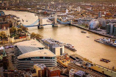 Tower Of London Photograph - London View From The Sky Garden by Ian Hufton