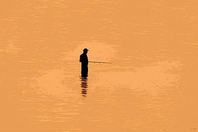 Lone Fisherman Print by David Lee Thompson