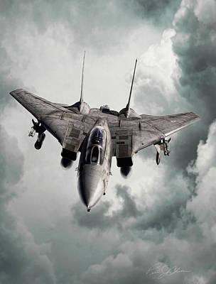 F-14 Digital Art - Lone Hunter by Peter Chilelli