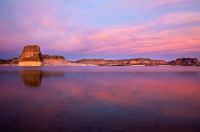 Lone Rock Sunset Print by Mike  Dawson