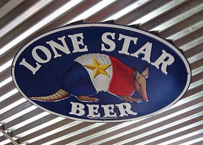 Elizabeth Rose Photograph - Lone Star Beer by Elizabeth Rose