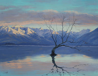 Tree Traditional Art Painting - Lone Tree by Graham Gercken