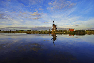 Netherlands Photograph - Lone Windmill by Chad Dutson