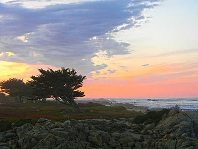 Lonely Coast Print by Coastal Oregon Photography
