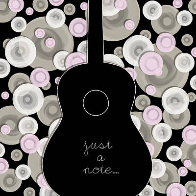 Music Lover Digital Art - Lonely Guitar by Mihaela Pater