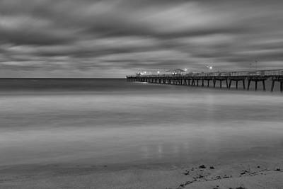 Nature Photograph - Lonely Morning At The Pier by Andres Leon