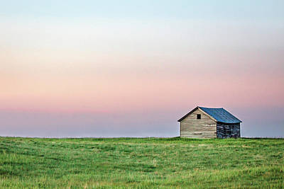 Lonely Old Shed Print by Todd Klassy