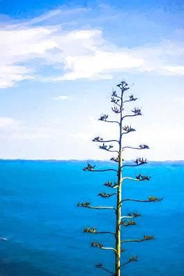 Strange Days Painting - Lonely Tree by Desislava Panteva