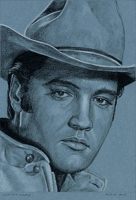 Elvis Presley Drawing - Lonesome Cowboy by Rob De Vries