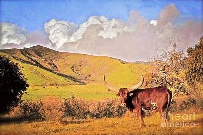 Lonesome Longhorn Ojai California Print by Gus McCrea