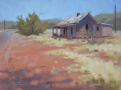 Shed Painting - Loney Road by Todd Baxter