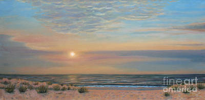 Long Sands Painting - Long Beach Island Sunrise by Jane  Simonson