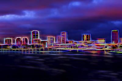 Long Beach Neon Print by Kelley King