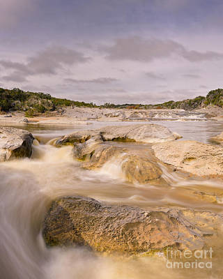 Long Exposure Of The Pedernales River - Pedernales Falls State Park Texas Hill Country Print by Silvio Ligutti
