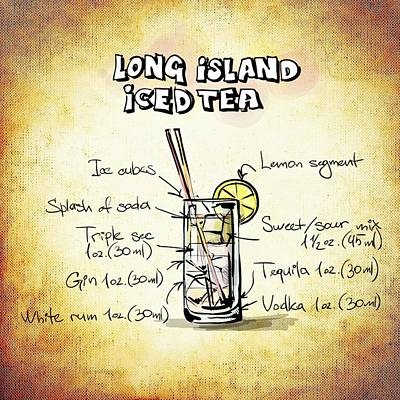 Liquor Mixed Media - Long Island Iced Tea by Movie Poster Prints