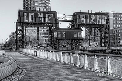 New York City Photograph - Long Island Railroad Gantry Cranes Iv by Clarence Holmes
