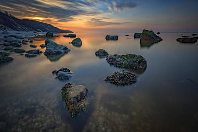 Long Island Sound Tranquility Print by Rick Berk