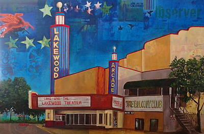 Pegasus Mixed Media - Long Live The Lakewood Theater by Katrina Rasmussen