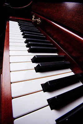 Keyboards Photograph - Long Piano View by Garry Gay