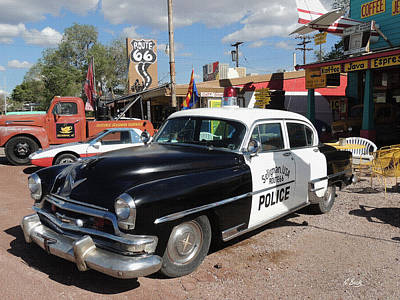 Police Cruiser Photograph - Long Retired  by Gordon Beck
