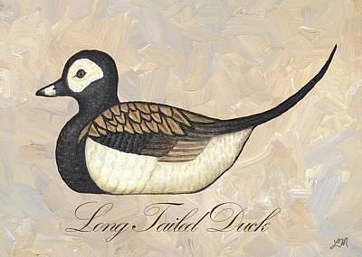 Hunters Digital Art - Long Tailed Duck by Linda Mears