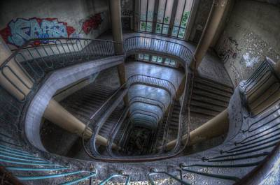 Dilapidated Digital Art - Long Way Down by Nathan Wright