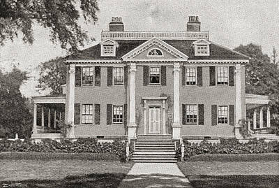 Longfellow S Home. Craigie House Print by Vintage Design Pics