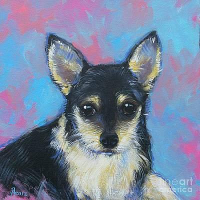 Longhair Chihuahua Original by Vickie Fears