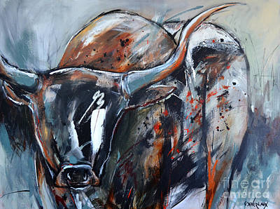 Wild Horse Painting - Longhorn by Cher Devereaux