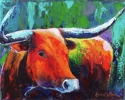Chatham Painting - Longhorn Jewel by Karen Kennedy Chatham