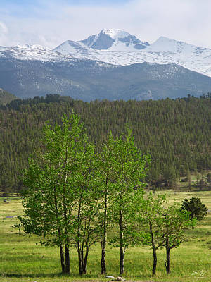 Longs Peak From Moraine Park - Spring Print by Aaron Spong