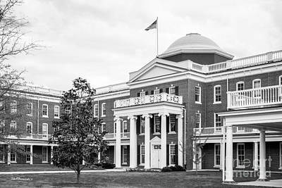 Longwood University Ruffner Hall Print by University Icons