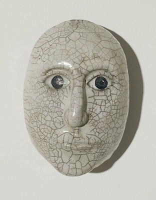 Rakku Fired Ceramic Art - Look Into My Eyes by Jason Galles