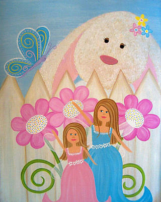 Bunny Painting - Look What I Found by Samantha Shirley