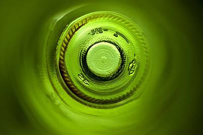 Wine Bottle Wall Art Photograph - Looking Deep Into The Bottle by Frank Tschakert