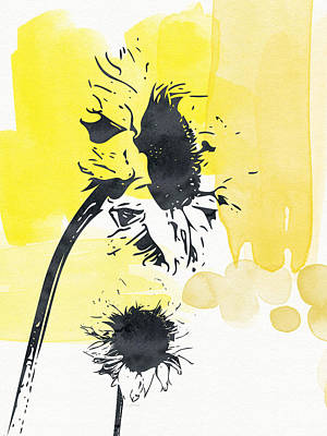 Sunflowers Mixed Media - Looking Forward- Art By Linda Woods by Linda Woods