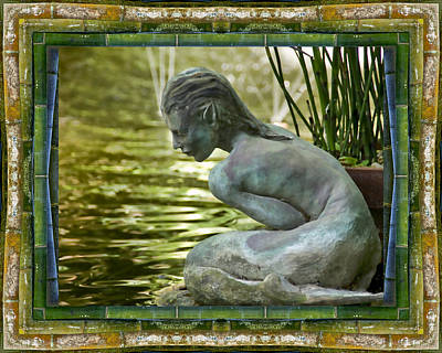 Mermaid Photograph - Looking In by Bell And Todd